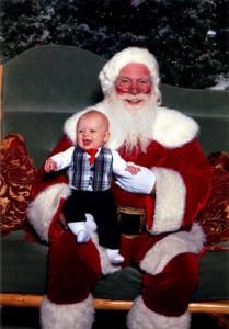 Ben 2009 and Santa