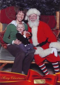 Christy, Ben and Santa, 2010
